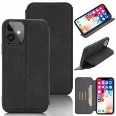 iphone 12 pro max atverčiamas dėklas SMART VINTAGE juodas