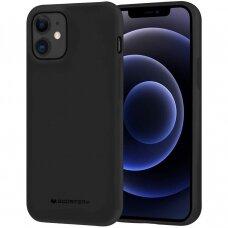 "iphone 12 pro Dėklas Mercury Goospery ""Soft jelly case""  juodas"
