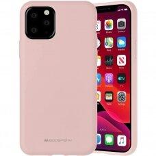 iphone 12 pro dėklas MERCURY SILICONE šviesiai rožinis