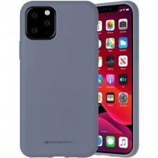 iphone 12 pro dėklas MERCURY SILICONE levandos spalvos