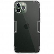 iphone 12 pro DĖKLAS NILLKIN NATURE 0.6MM TPU permatomas pilkas