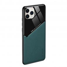 Iphone 12 pro max dėklas su įmontuota metaline plokštele LENS case žalias