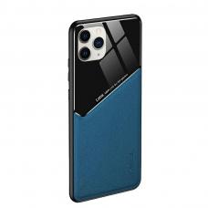Iphone 12 pro max dėklas su įmontuota metaline plokštele LENS case Mėlynas