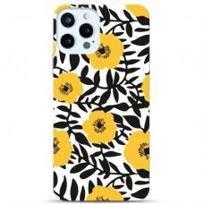"""Iphone 12 Pro max TPU dėklas unikaliu dizainu 1.0 mm """" u-case Airskin Flowers 2 design"""""""