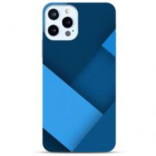 """Iphone 12 Pro max TPU dėklas unikaliu dizainu 1.0 mm """"u-case Airskin Blue design"""""""