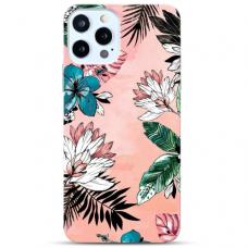 """Iphone 12 Pro max TPU dėklas unikaliu dizainu 1.0 mm """"u-case Airskin Flowers 1 design"""""""