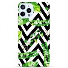"""Iphone 12 Pro max TPU dėklas unikaliu dizainu 1.0 mm """"u-case Airskin Leaves 2 design"""""""