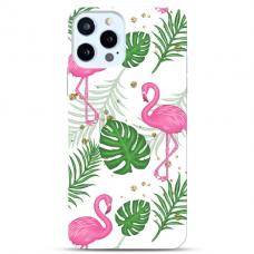 "Iphone 12 Pro max TPU dėklas unikaliu dizainu 1.0 mm ""u-case Airskin Flamingos design"""