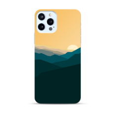 """Iphone 12 pro max TPU dėklas unikaliu dizainu 1.0 mm """"u-case Airskin Mountains 2 design"""""""