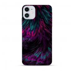 """Iphone 12 mini TPU dėklas unikaliu dizainu 1.0 mm """"u-case Airskin Feather design"""""""