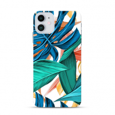 """Iphone 12 mini TPU dėklas unikaliu dizainu 1.0 mm """"u-case Airskin Leaves design"""""""