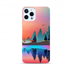"Iphone 12 Pro TPU dėklas unikaliu dizainu 1.0 mm ""u-case Airskin Nature 5 design"""