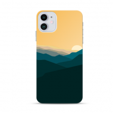 "Iphone 12 TPU dėklas unikaliu dizainu 1.0 mm ""u-case Airskin Mountains 2 design"""
