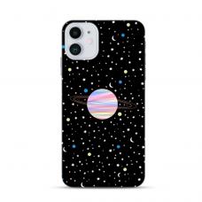 """Iphone 12 mini TPU dėklas unikaliu dizainu 1.0 mm """"u-case Airskin Planet design"""""""