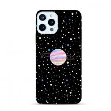 """Iphone 12 Pro max TPU dėklas unikaliu dizainu 1.0 mm """"u-case Airskin Planet design"""""""