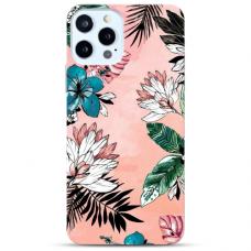 """Iphone 12/ 12 Pro TPU dėklas unikaliu dizainu 1.0 mm """"u-case Airskin Flowers 1 design"""""""