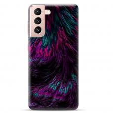 """Samsung Galaxy S21 TPU dėklas unikaliu dizainu 1.0 mm """"u-case Airskin Feather design"""""""
