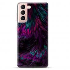"Samsung Galaxy S21 Plus TPU dėklas unikaliu dizainu 1.0 mm ""u-case Airskin Feather design"""