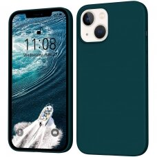 iphone 13 mini dėklas TPU rubber tamsiai žalias