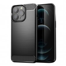 Iphone 13 Pro dėklas Carbon case TPU juodas