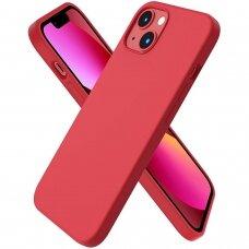 Iphone 13 mini dėklas Silicon Raudonas