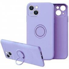 Iphone 13 dėklas su magnetu Finger Ring violetinis