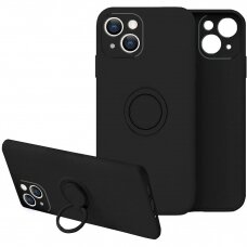 iphone 13 mini dėklas su magnetu Finger Ring Juodas