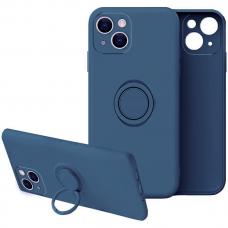 iphone 13 mini dėklas su magnetu Finger Ring Mėlynas