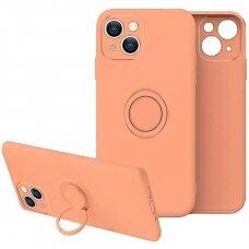 iphone 13 mini dėklas su magnetu Finger Ring Oranžinis