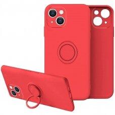 iphone 13 mini dėklas su magnetu Finger Ring Raudonas