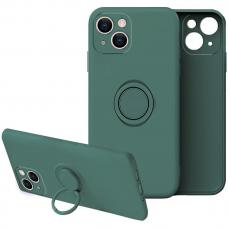 iphone 13 mini dėklas su magnetu Finger Ring žalias