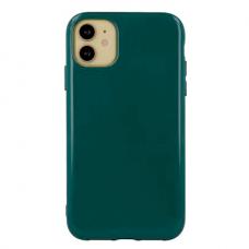 """Akcija! iphone 13 pro max Dėklas """"Soft jelly case"""" tamsiai žalia"""