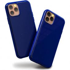 """Akcija! iphone 13 pro max Dėklas """"Soft jelly case""""  tamsiai mėlynas"""
