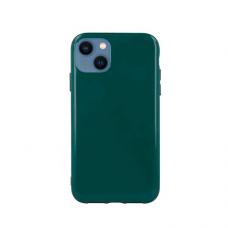 """iphone 13 Dėklas """"Soft jelly case"""" tamsiai žalia"""
