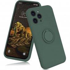 iphone 13 pro max dėklas su magnetu Finger Ring žalias