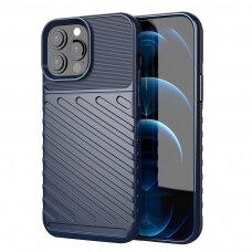 Akcija! iphone 13 pro max dėklas THUNDER SILICON TPU mėlynas