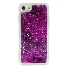 "iphone 5/ 5S / SE dėklas glitter ""Liquid Water"" silikonas violetinis"