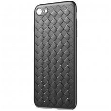 "iphone 5/ 5S / SE DĖKLAS ""N TOP S KNIT"" SILIKONAS juodas"