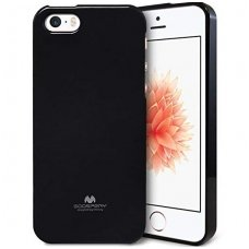 iphone 5/ 5S / SE DĖKLAS MERCURY JELLY CASE SILIKONINIS juodas