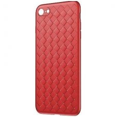 "iphone 6 plus / 6s plus DĖKLAS ""N TOP S KNIT"" SILIKONAS raudonas"