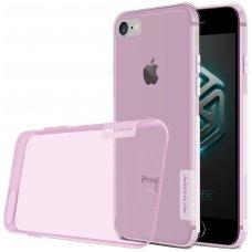 Iphone 6 Plus / 6s plus dėklas nillkin Nature serijos TPU 0,6mm skaidrus rožinis