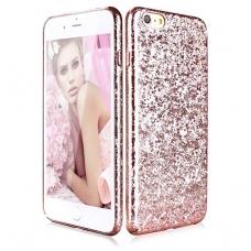iphone 6 plus / 6S plus dėklas pipilu/x-level ice crystal pc plastikas rose gold