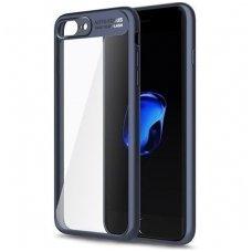 Iphone 6 Plus/ 6s Plus Dėklas ROCK Clarity skaidrus TPU IR PC PLASTIKAS mėlynais kraštais