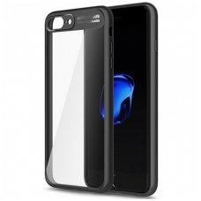 Iphone 6 Plus/ 6s Plus Dėklas ROCK Clarity TPU IR PC PLASTIKAS skaidrus juodais kraštais