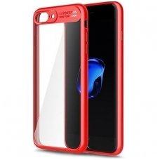 Iphone 6 Plus / 6s Plus Dėklas ROCK Clarity TPU IR PC PLASTIKAS skaidrus raudonais kraštais