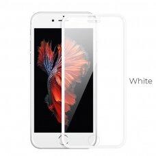 Akcija! iphone 6/6s apsauginis stiklas 5D Full Glue  baltais kraštais