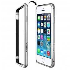 iphone 6/6s dėklas nillkin gothic aliuminis bamperis sidabrinis
