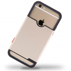iphone 6/6s dėklas nillkin shield tpu+pc auksinis