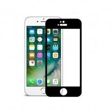 """Akcija! Iphone 6/6s lenktas grūdintas apsauginis stiklas """"Full Glue""""H Pro 5D H9+ juodais kraštais"""