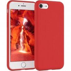 Akcija! Iphone 7/ Iphone 8 dėklas MERCURY SILICONE raudonas